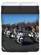 Sheriff's Motor Officers Duvet Cover