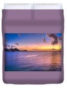 Sherri's Sunset St. Lucia Duvet Cover