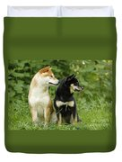 Shiba Inu Dogs Duvet Cover