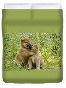 Shiba Inu Puppies Duvet Cover
