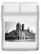 Shibe Park In Black And White Duvet Cover
