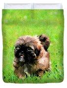 Shih Tzu Puppy Duvet Cover