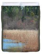 Shimmering Gold Grasslands Duvet Cover
