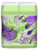 Shimmering Joy Abstract Digital Art Duvet Cover