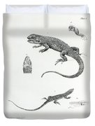 Shingled Iguana Duvet Cover