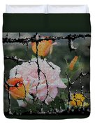 Shinning Roses Photo Manipulation Duvet Cover