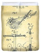 Ship Anchor Patent From 1892 - Vintage Duvet Cover