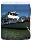 Ship And Swan Duvet Cover
