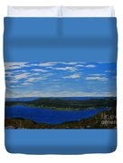 Ship Harbour From Sugarloaf Hill Duvet Cover
