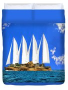 Ship Of State Duvet Cover
