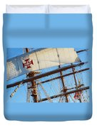Ship Rigging Duvet Cover by Carlos Caetano