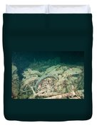 Ship Wreck And Motorbikes Duvet Cover