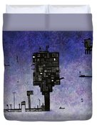Ships In The Night IIi Duvet Cover