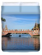 Ships On Waves Bridge Duvet Cover