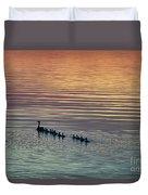 Shipshewana Lake Evening Duvet Cover