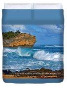Shipwreck Beach Shorebreaks 1 Duvet Cover
