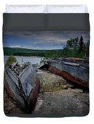 Shipwrecks At Neys Provincial Park No.3 Duvet Cover