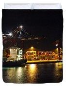 Shipyards 2 Callao Port Lima Peru Duvet Cover