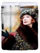 Shirley Maclaine @ Tv Serie Downton Abbey  Duvet Cover