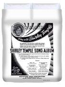 Shirley Temple Song Album Duvet Cover