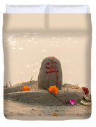 Shivling From Sand Duvet Cover