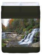 Shoal Creek Area Waterfalls Duvet Cover