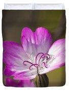 Shocking Pink Chenille Duvet Cover