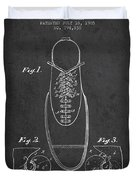 Shoe Eyelet Patent From 1905 - Charcoal Duvet Cover