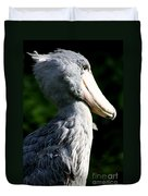 Shoebill Portrait Duvet Cover