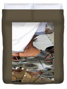 Shoes At The Door Duvet Cover