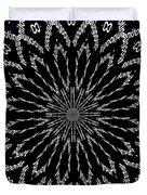 Shooting Star Black And White Kaleidoscope Duvet Cover
