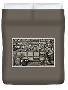 Shopping At The General Store Duvet Cover by Priscilla Burgers