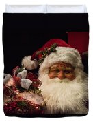 Shopping Mall Santa Duvet Cover