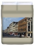 Shops And Buildings Along Rue Saint-paul Old Montreal Duvet Cover