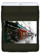 Shops On Rue Cler Duvet Cover