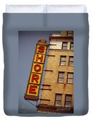 Shore Building Sign - Coney Island Duvet Cover
