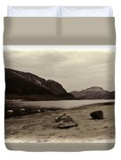 Shore Of A Loch In The Scottish Highlands Duvet Cover