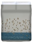 Shorebirds Flying Duvet Cover