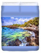 Shoreline At Puako Duvet Cover
