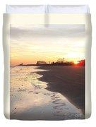 Shoreline Sunset Duvet Cover