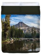 Shoreline View Of Anthony Lake Duvet Cover