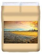 Shores Of Lake Michigan Duvet Cover