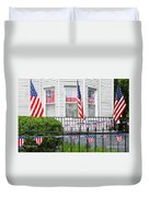 Showing The Flag Usa Duvet Cover