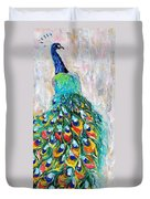 Showy Peacock Duvet Cover