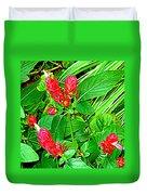Shrimp Bloom Duvet Cover