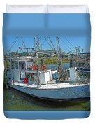 Shrimp Boat - Southern Catch Duvet Cover