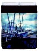 Shrimp Boats Duvet Cover