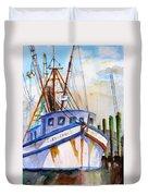 Shrimp Fishing Boat Duvet Cover