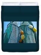 Shrimp Net Close Up Duvet Cover