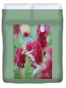 Shrimp Plant Duvet Cover